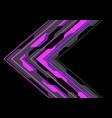 abstract violet arrow polygon circuit light black vector image vector image