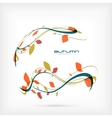 autumn flying leaves design vector image vector image