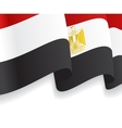 Background with waving Egyptian Flag vector image vector image
