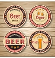Beer Label Or Emblem Set vector image