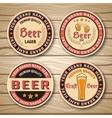 Beer Label Or Emblem Set vector image vector image