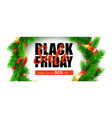 black friday sale save up to fifty percent vector image