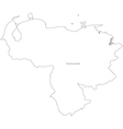 Black White Venezuela Outline Map vector image