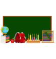 Blackboard and school materials vector image