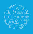 block chain blue round concept outline vector image vector image