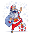 cartoon funny santa vector image vector image
