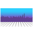 City skyline and zebra crossing in foreground vector image vector image