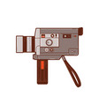 classic 8mm movie cameras vector image vector image
