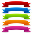colorful banner set - curved arched version vector image