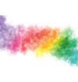 colorful rainbow watercolor wash splash background vector image vector image