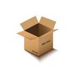 corton box postal packing box on white vector image