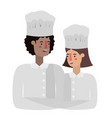 couple cooks avatar character vector image vector image