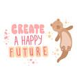 create happy future scandinavian style lettering vector image vector image