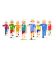 crowd of older active people go adult men and vector image vector image