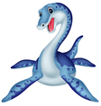 Cute plesiosaurus cartoon vector image vector image