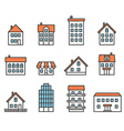 Different house silhouettes collection Design vector image vector image