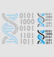dna binary code mesh carcass model and vector image vector image