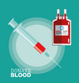 donate blood syringe transfusion vector image vector image