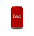 drink aluminium can vector image vector image