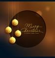 elegant golden christmas balls on bokeh background vector image