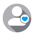 favorite heart people rate user icon vector image
