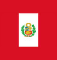 flag peru stateeps vector image