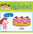 Flashcard alphabet C is cake vector image vector image