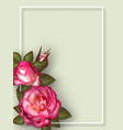 floral card design for greeting or invitation vector image vector image