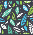 forest leaf hand drawn colorful seamless pattern vector image