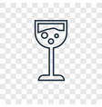 glass with wine concept linear icon isolated on vector image vector image