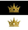 gold king crown logo template design eps 10 vector image