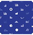 graphs icons seamless pattern eps10 vector image vector image
