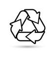 green recycling logo vector image