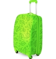 green travelling baggage suitcase vector image vector image