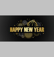 happy new year banner with golden fireworks gold vector image vector image
