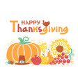 happy thanksgiving day card with text beautiful vector image vector image