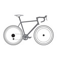 isolated bicycle sketch vector image vector image