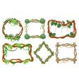 jungle liana frames cartoon rainforest branches vector image vector image