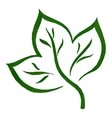 Leaf Green Low-Poly Pictogram vector image vector image
