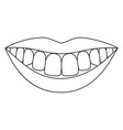 line art black and white healthy smile vector image