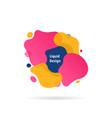 liquid shape fluid design logo vector image