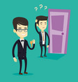 making the right decisions in business vector image