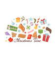 merry christmas objects collection winter vector image