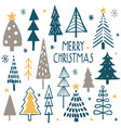 merry christmas simple minimalist trees vector image vector image