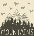 Mountain nature4 vector image vector image