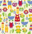 Newborn baby stuff pattern vector image