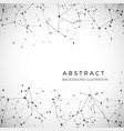 node dots and lines abstract particles geometric vector image