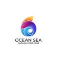 ocean design concept template vector image vector image