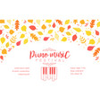piano music festival banner template with autumn vector image vector image