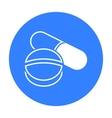 Pill icon black Single medicine icon from the big vector image vector image